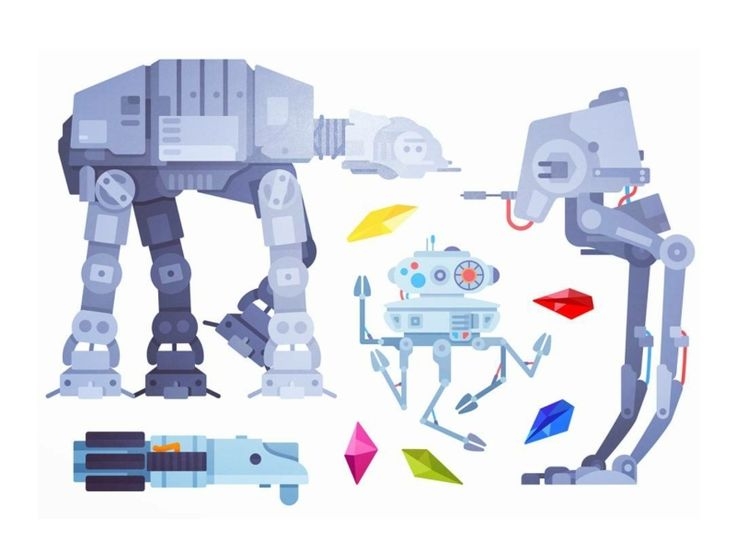 Starwars Illustrations by Aleksandar Savic #Design Popular #Dribbble #shots
