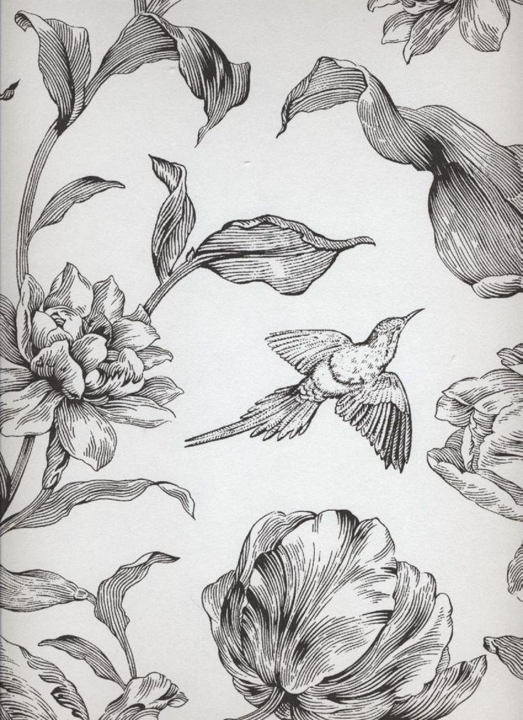 Tapete Marle col. 20   Exclusive Tapeten in den Farben schwarz   Grundton weiß
