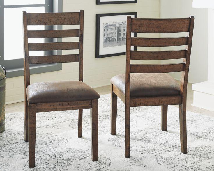 Royard Dining Room Chair Set Of 2 Warm Brown In 2019 Dining Room Chairs Dining Furniture