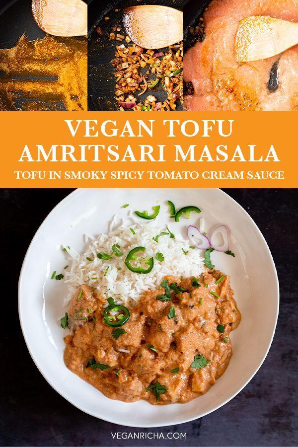 Tofu Amritsari Masala Spicy Smoky Creamy Tomato Sauce
