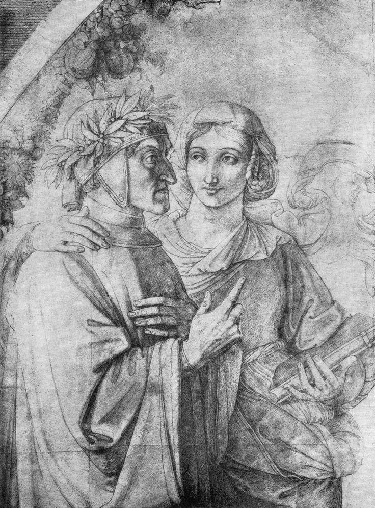 FEMALE BEAUTY IN ART — Beatrice and Danteby Peter von Cornelius, 1818