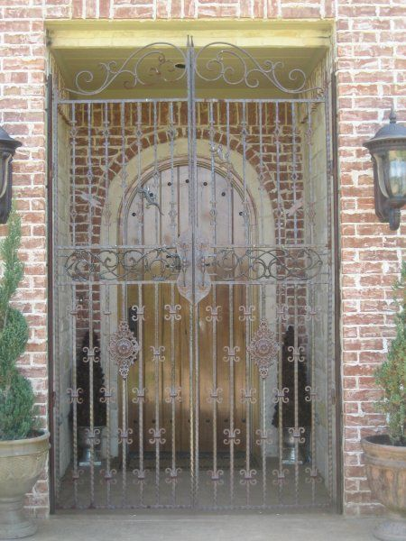 Our Wrought Iron Front Porch Gates Can Make That Grand