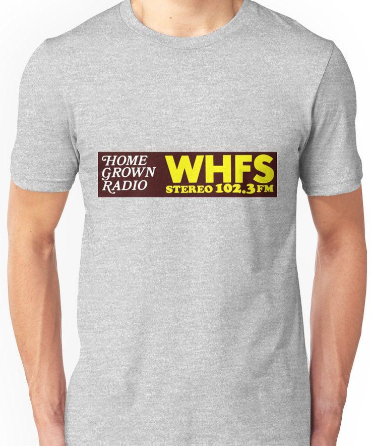 WHFS 102.3FM Alternative Radio Station Bumper Sticker Design Unisex T-Shirt