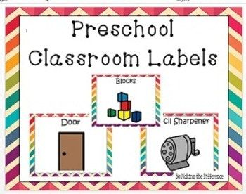 This product includes labels for each center area and classroom furniture. Classroom furniture labels include: sink, door, flag, window, trash, recycle bin, soap, mirror, computer, teacher desk,refrigerator, toilet paper, bathroom, pencil sharpener, table, chair, bean bag chair, shelves, light switch, chalkboard, cabinets, microwave, stove, cubbies, broom, and tissues.