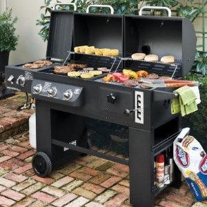 Hybrid Grill Infrared Gas and Charcoal Cooking System