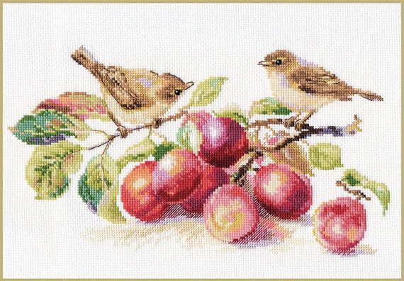 Cross Stitch Kit Birds