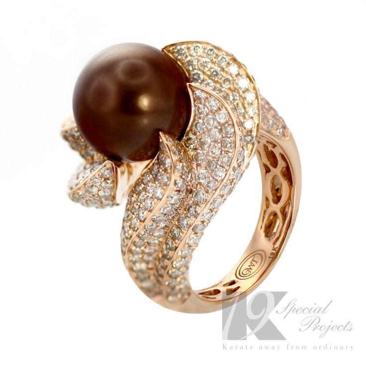 Ethos Ring, 19K Rose gold, meticulously set 394 premium grade diamonds, expertly micro set.