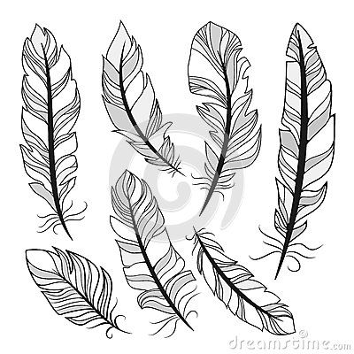 plumas dibujadas a lapiz - Buscar con Google