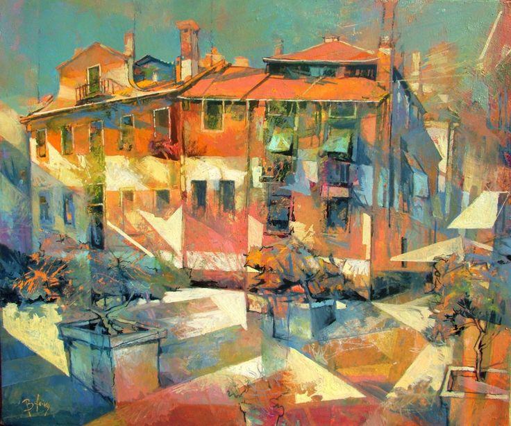 "Saatchi Art Artist: Alex Bertaina; Oil 2014 Painting ""Gioco di colori"""
