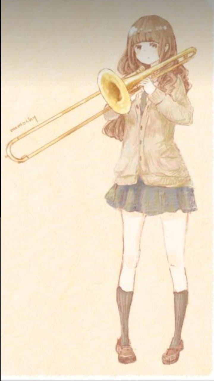 Anime おしゃれまとめの人気アイデア Pinterest Rob Van Der Ven 吹奏楽 イラスト トロンボーン イラスト 楽器 イラスト