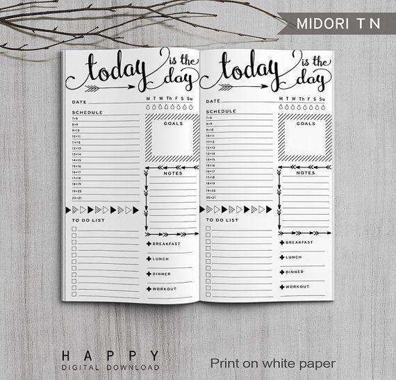Printable Daily Planner Bullet Journal par HappyDigitalDownload Plus