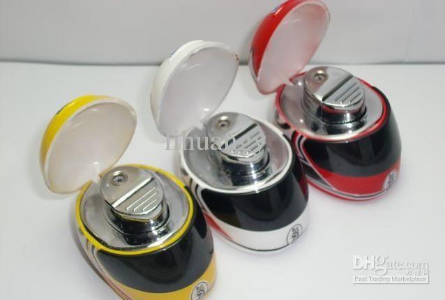 lighters made to look like bike helmets. great design.