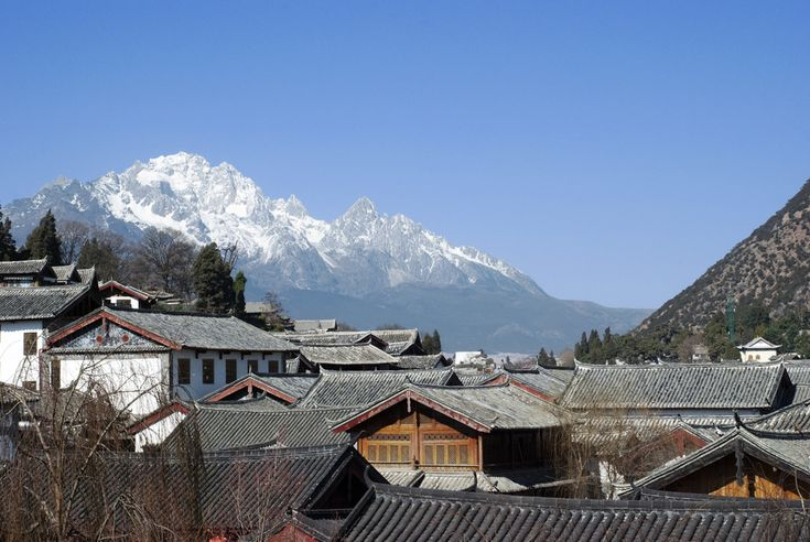 Yulong Snow Mountain's glaciers are just a few dozen miles outside of the city. | 12 Reasons Lijiang Is The Prettiest City On Earth