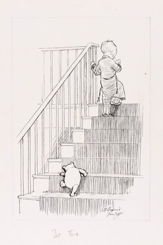 """Us Two - Now We are Six, 1927: Wherever I am, there's always Pooh, There's always Pooh and Me. Whatever I do, he wants to do, """"Where are you going today?"""" says Pooh: """"Well, that's very odd 'cos I was too. Let's go together,"""" says Pooh, says he. """"Let's go together,"""" says Pooh."""