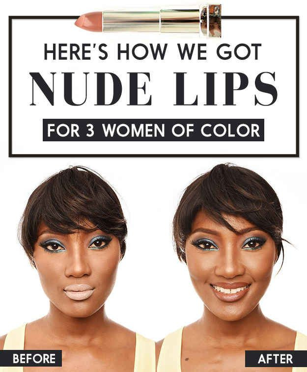 """Here's How We Made """"Nude"""" Lips Work For Three Black Girls #blackgirlmakeupstruggles"""