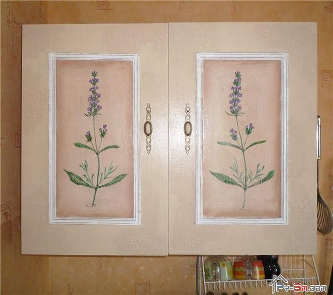 Покраска кухонных шкафов