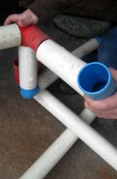 Build with pipes- let kids use their imagination & design with pipe pieces.  Find clear pipe & use it for a marble run?!
