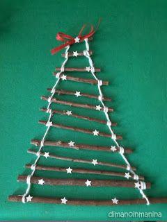 DIY wood christmas tree decoration - decorazione natalizia fai da te in legno -Dimanoinmanina