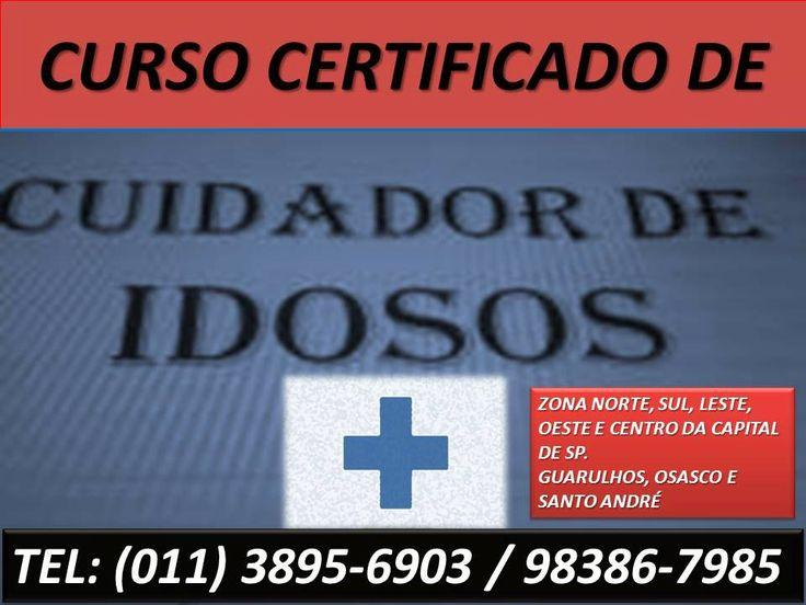 CURSO DE CUIDADOR DE IDOSOS. CURSO DE ACOMPANHANTE DE IDOSO. ESCOLA DE FORMAÇÃO DE CUIDADORES DE IDOSOS E PESSOAS DEBILITADAS OU ACAMADAS EM SÃO PAULO.  SOMENTE 2 PARCELAS DE R$ 95,00. ÚLTIMAS VAGAS! MATRICULE-SE AGORA MESMO!  ZONA NORTE, ZONA SUL, ZONA LESTE, ZONA OESTE E CENTRO DE SP. TAMBÉM EM GUARULHOS, MAUÁ, OSASCO, SANTO ANDRÉ E SÃO BERNARDO DO CAMPO.  TELEATENDIMENTO: (11) 3895-6903 OU 98386-7985 ( tim ).