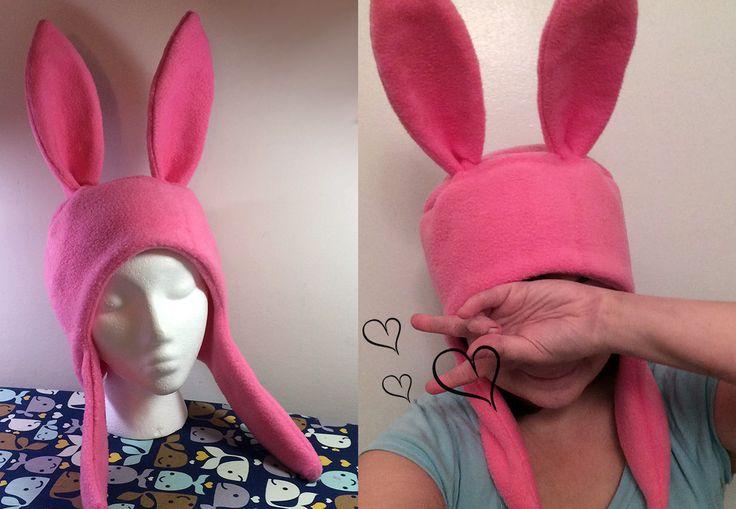 Bob's Burgers Louise Belcher Bunny Hat Hood Cosplay Rabbit Pink Ears Costume | eBay