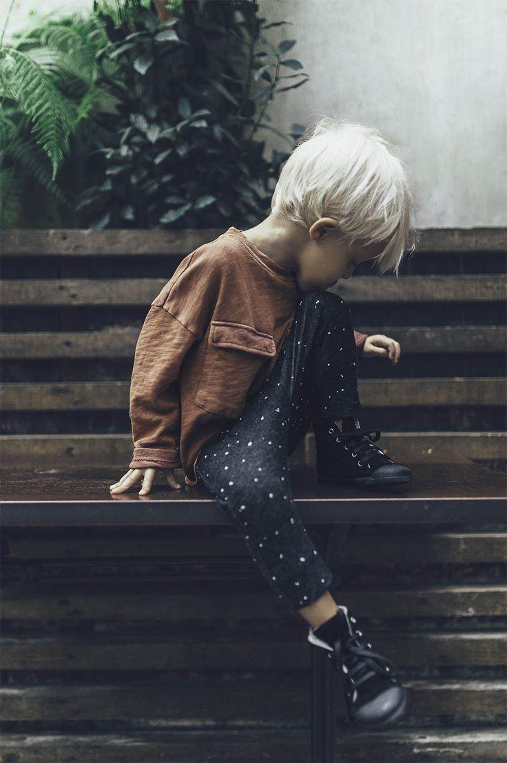 rust-hued long sleeve + relaxed legging.