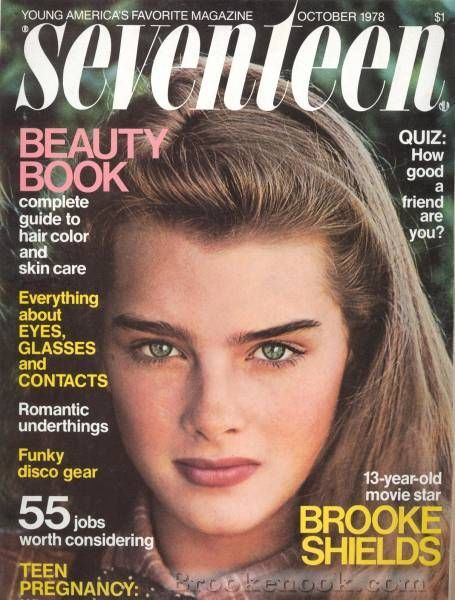 Brooke Shields on the cover of Seventeen Magazine (October 1978)