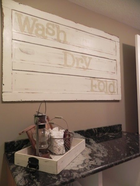 Laundry room sign. rustic