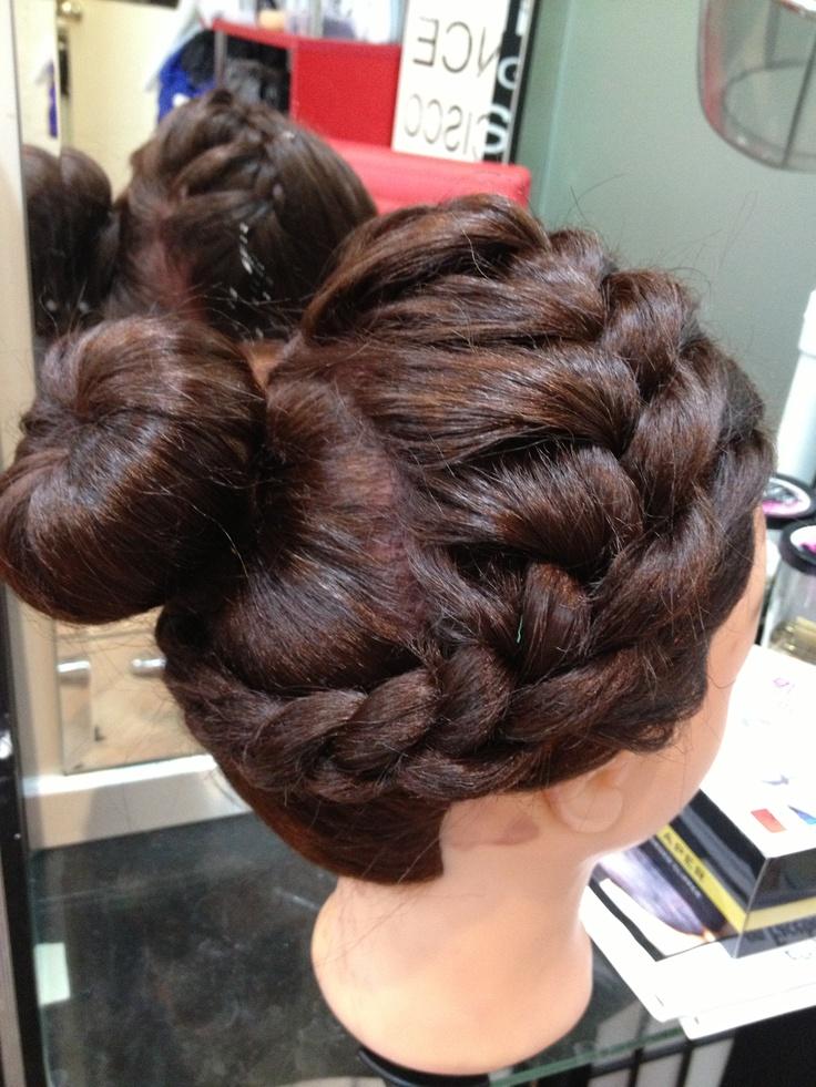 French bun, braid