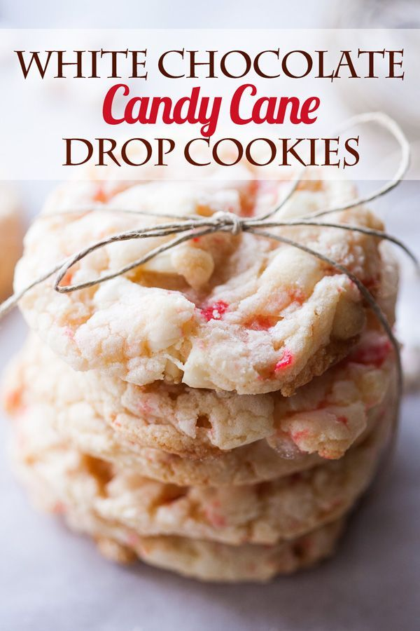 White Chocolate Candy Cane Drop Cookies, Christmas Cookies, Peppermint Cookies, White Chocolate Peppermint Cookies, Christmas cookies recipes, the best Christmas cookies
