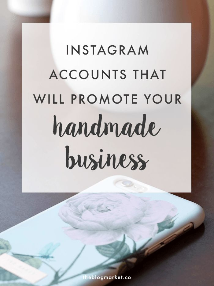 #fastlain synopsis: If you are a handmade business looking for ways to market yourself, this post includes a handful of accounts that MAY follow and promote your products. /le  Instagram Communities That Will Promote Your Handmade Business | The Blog Market