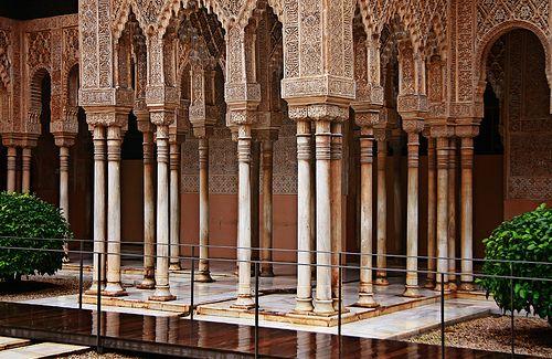 La alhambra columnas de galgo conocidas as las columnas - Salones con columnas ...