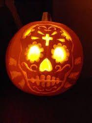 The 25 best sugar skull pumpkin stencil ideas on pinterest day of the dead pumpkin stencil google search pronofoot35fo Images