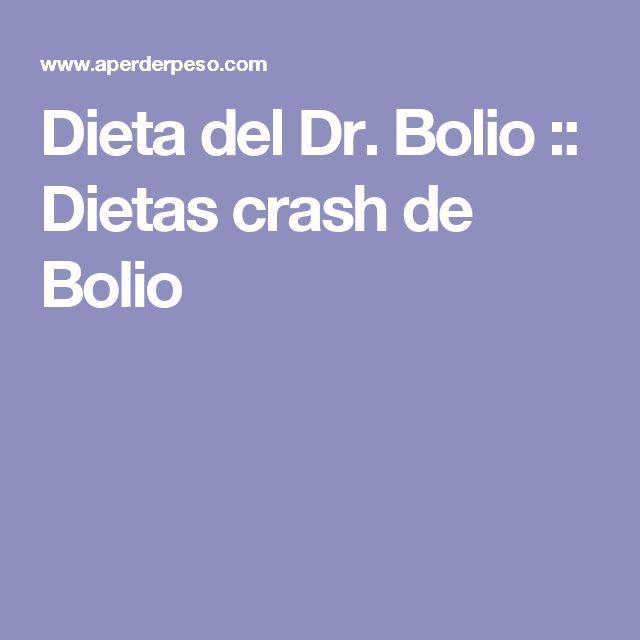 Dieta del Dr. Bolio :: Dietas crash de Bolio