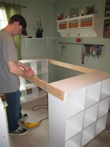 He Connected Three IKEA Bookshelves With Wood To Make THIS For His Wife! The Result? So USEFUL! | Ut Home | Page 2