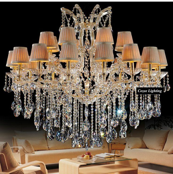 Gratis verzending maria theresa moderne vol lood kristallen kroonluchters opknoping licht lamp( model: cc- n121- 16+8+1)