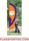 Clemson Tigers Tall Team Flag 8.5' x 2.5'