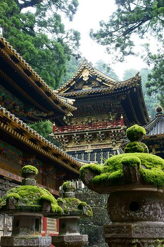 Nikko Toshogu-shrine ...the only shrine in Japan that the outside is decorated in gold. Astonishing art work all around!! and beautiful scenery and surrounding nature.