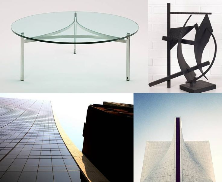 Fabricius & Kastholm and their contemporaries: Scimitar Table by Fabricius & Kastholm - 1964, Sculpture by Robert Jacobsen - 1962, Solow Building by Skidmore, Owings & Merril - 1974, St. Mary's Cathedral by Belluschi & Nervi - 1965/1970