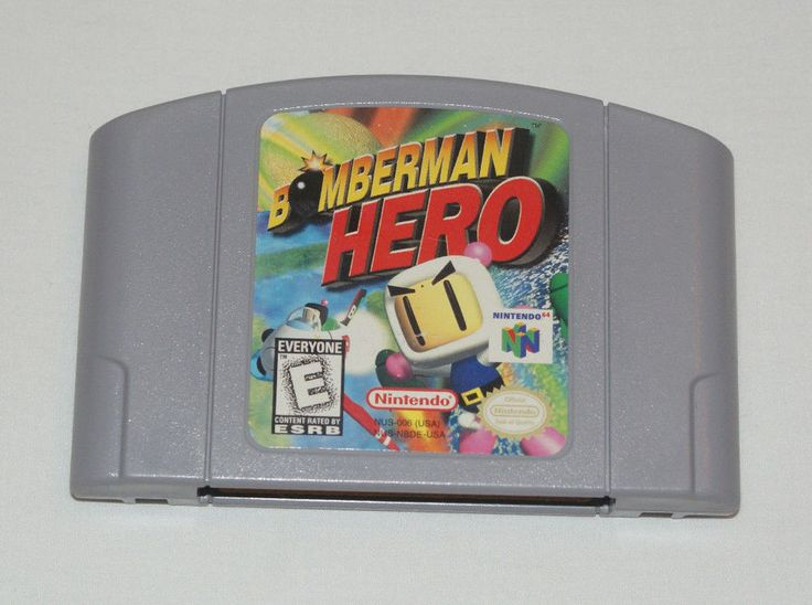 BOMBERMAN HERO - NINTENDO 64 GAME - N64 - PINS POLISHED - TESTED