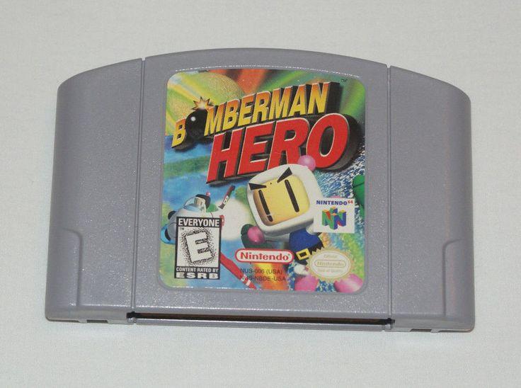 BOMBERMAN HERO - NINTENDO 64 GAME - N64 - PINS POLISHED - TESTED