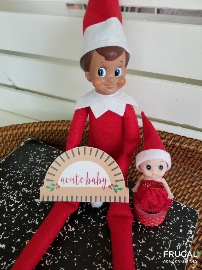 Punny Acute Elf Baby Printable For A Cute Baby Elf Baby