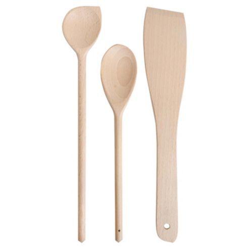 Tesco FSC Wooden Spoon, Corner Spoon and Spatula. £1.00.