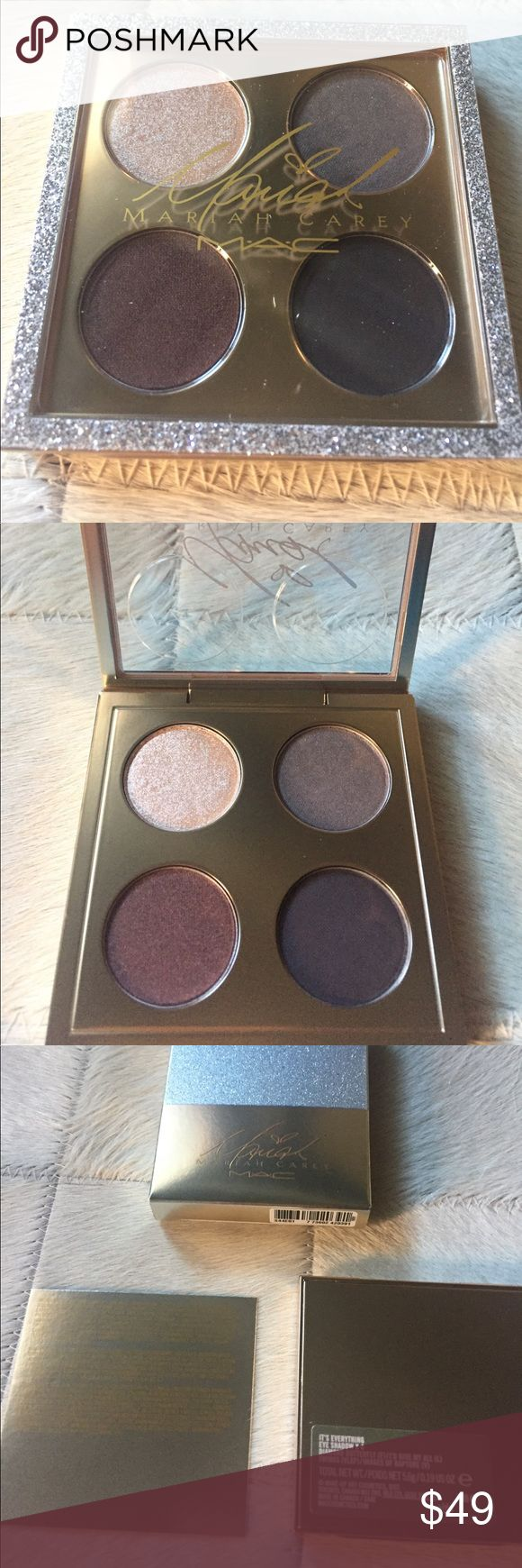Mac Mariah Carey eyeshadow quad Bnib, only opened for pics.  Eyeshadow quad in I'm that girl you like. MAC Cosmetics Makeup Eyeshadow