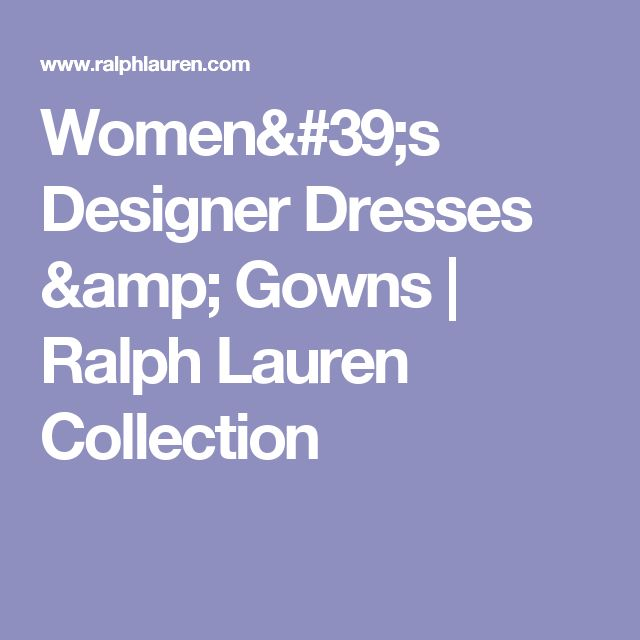 Women's Designer Dresses & Gowns   Ralph Lauren Collection