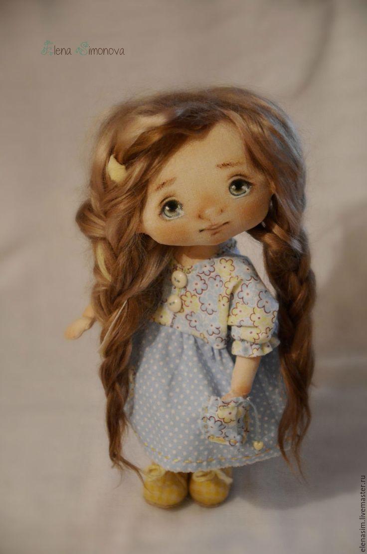 Купить Неженка Яся - голубой, интерьерная кукла, авторская ручная работа, авторская кукла