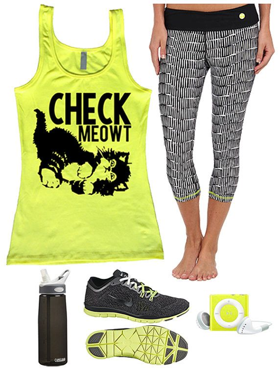 Check Meowt fitted tank by Enlightened State Apparel