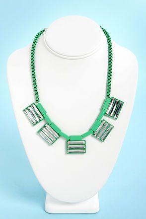 Romantic Entanglement Green Statement Necklace at LuLus.com!