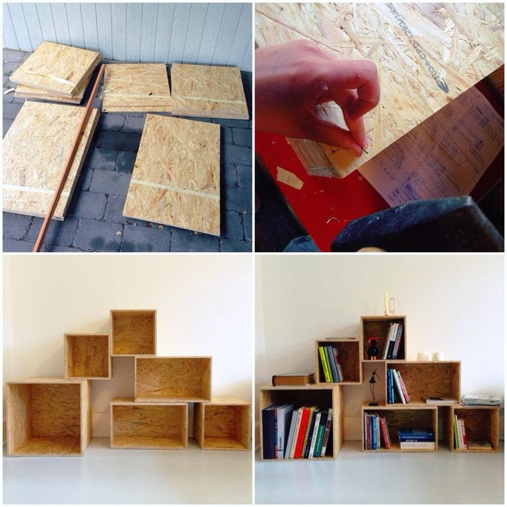 I just made this osb bookshelf for my new home and i 39 m for Fabriquer meuble mdf