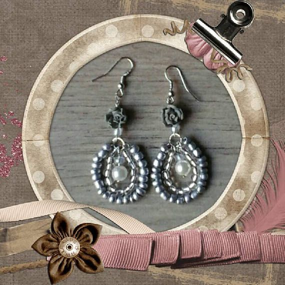 Check out this item in my Etsy shop https://www.etsy.com/listing/527218257/earrings-handmade-jewelry-beaded-drop