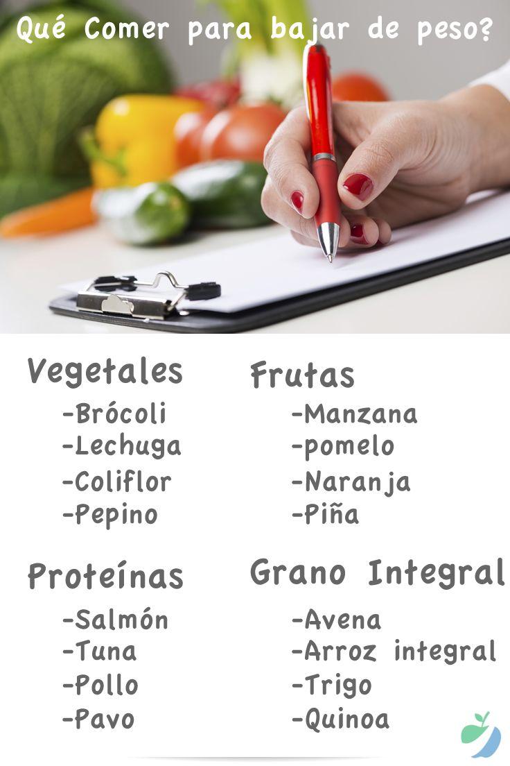 Deseas saber qué comer para bajar de peso saludablemente? Comer estos alimentos te ayudará a bajar de peso y ser saludable sin tener que hacer dietas.